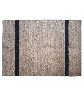 Tapis style berbère Minimaliste noir l.160xL.230cm -