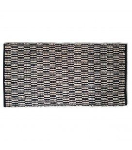 Tapis style berbère Tamatave noir l.60xL.90cm -