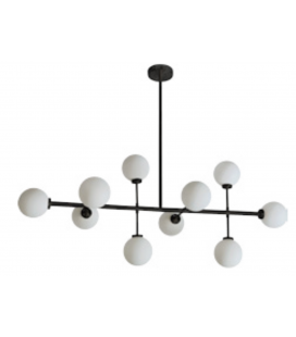 Suspension dix globes Edmond noire -