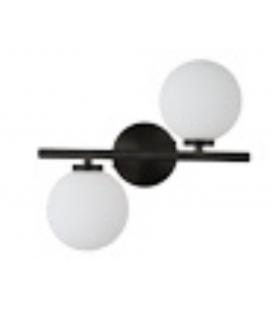 Applique murale horizontale deux globes Edmond noire -