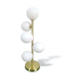 Lampe à poser noire cinq globes Edmond