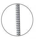 Suspension 5 lignes noire 100cm -