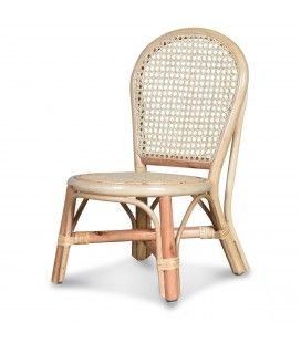 Mini chaise en rotin naturel Bambou -