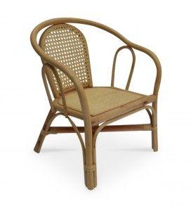 Mini fauteuil en rotin naturel Bambou