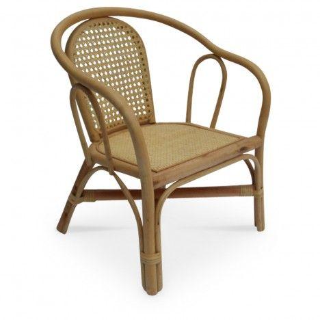 Mini fauteuil en rotin naturel Bambou -