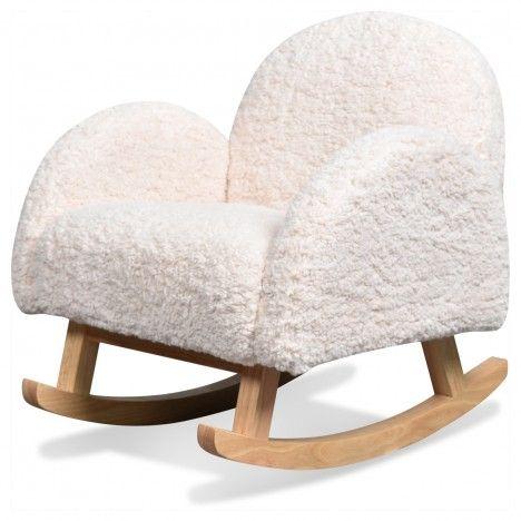 Rocking chair chambre enfant imitation fourrure Doudou -