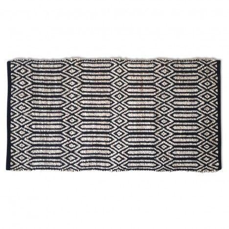 Tapis style berbère Minimaliste noir l.120xL.170cm -
