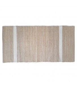Tapis style berbère Minimaliste blanc l.60xL.90cm -