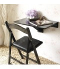 Table murale pliable bureau rabattable 60x40cm noire Worky