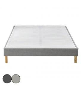 Sommier tapissier simple ou double velours noir ou gris SOMY
