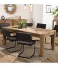 Table à manger bois massif de pin 200 x 90 cm Bastila