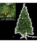 Sapin de Noël anti-feu avec guirlande intégrée LED 180 cm