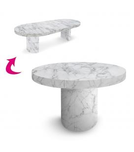 Table extensible effet marbre Suzy