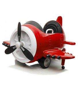 Avion électrique enfant mini voiture rouge 1 place 12V