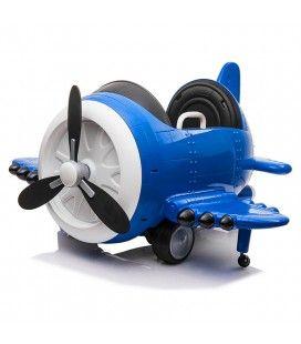 Avion électrique enfant mini voiture bleu 1 place 12V