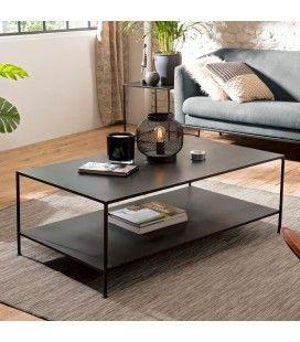 Table basse rectangulaire métal industrielle ROMAO