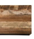 Meuble TV avec 2 étagères de rangement bois massif et métal SULA