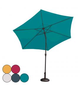 Parasol à toile ronde inclinable en acier diamètre 3m