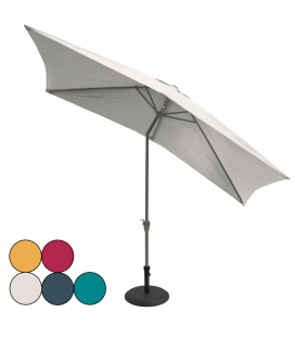 Grand parasol rectangle 3x2m aluminium avec manivelle PENBURY