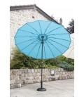 Parasol D270cm manivelle forme ronde - 5 coloris