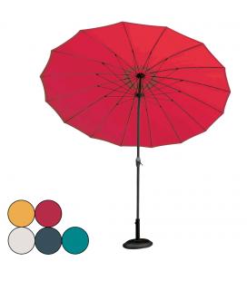 Parasol de jardin rond diamètre 2,7m avec manivelle