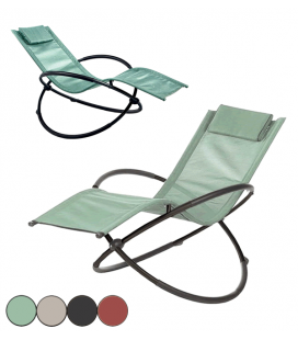 Transat rocking chair de jardin 4 coloris Lot de 2 - COBAN