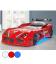 Lit voiture de sport GT1 enfant blanc ou rouge 90x190cm