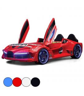 Lit voiture de sport Aero avec portes et tête de lit 90x190cm