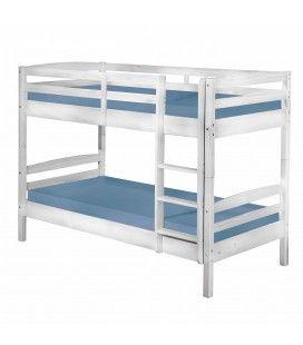 Lits superposés modulables en lits séparés 90x190cm Leeds