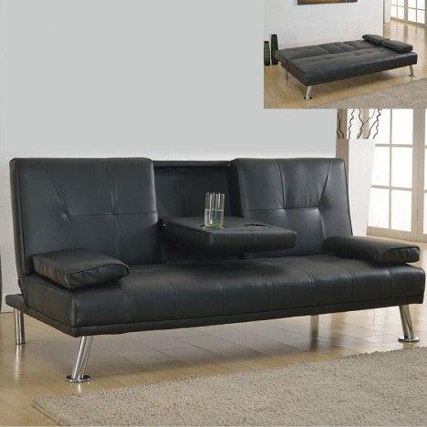 Canapé 3 places convertible avec accoudoir central bar Canby - 4 coloris -