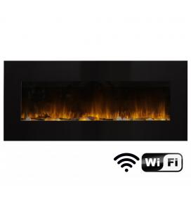 Cheminée électrique murale WIFI noire Volcano XXL