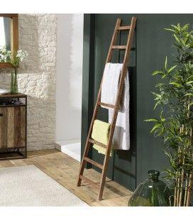 Porte serviettes échelle en bois de teck massif 195cm SULA