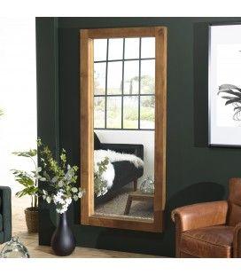 Miroir en bois de teck massif 180cm SULA