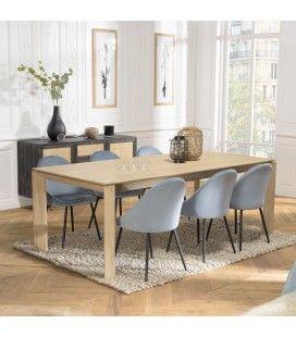 Table extensible à rallonges 320cm en bois de chêne massif MADY