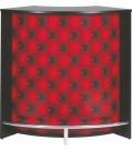 Comptoir de Bar blanc ou noir effet capitonnage rouge -