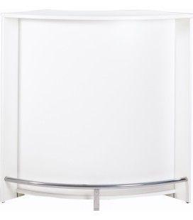 Meuble bar de cuisine ou accueil comptoir blanc Eclat -