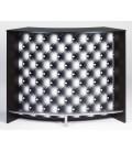 Comptoir de Bar blanc ou noir 134cm + Double porte CAPITONNE NOIR -