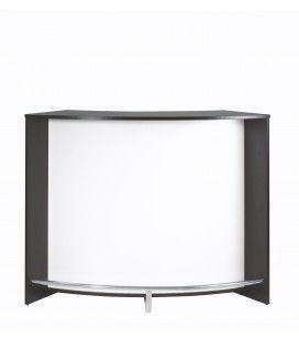 Comptoir de Bar noir et blanc design 134cm + Double porte