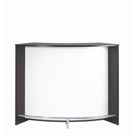 Comptoir de Bar noir et blanc design 134cm + Double porte -