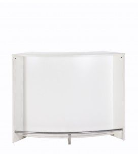 Comptoir de Bar blanc design 134cm + Double porte -