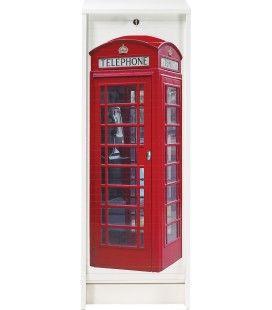 Rangement à rideau coulissant London 105 cm - 3 coloris -