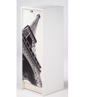 Rangement à rideau coulissant Paris 105 cm - 3 coloris -