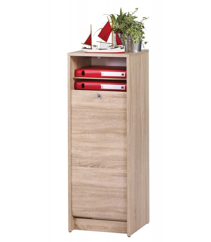 classeur de rangement à rideau en bois 105 cm - 3 coloris - decome store