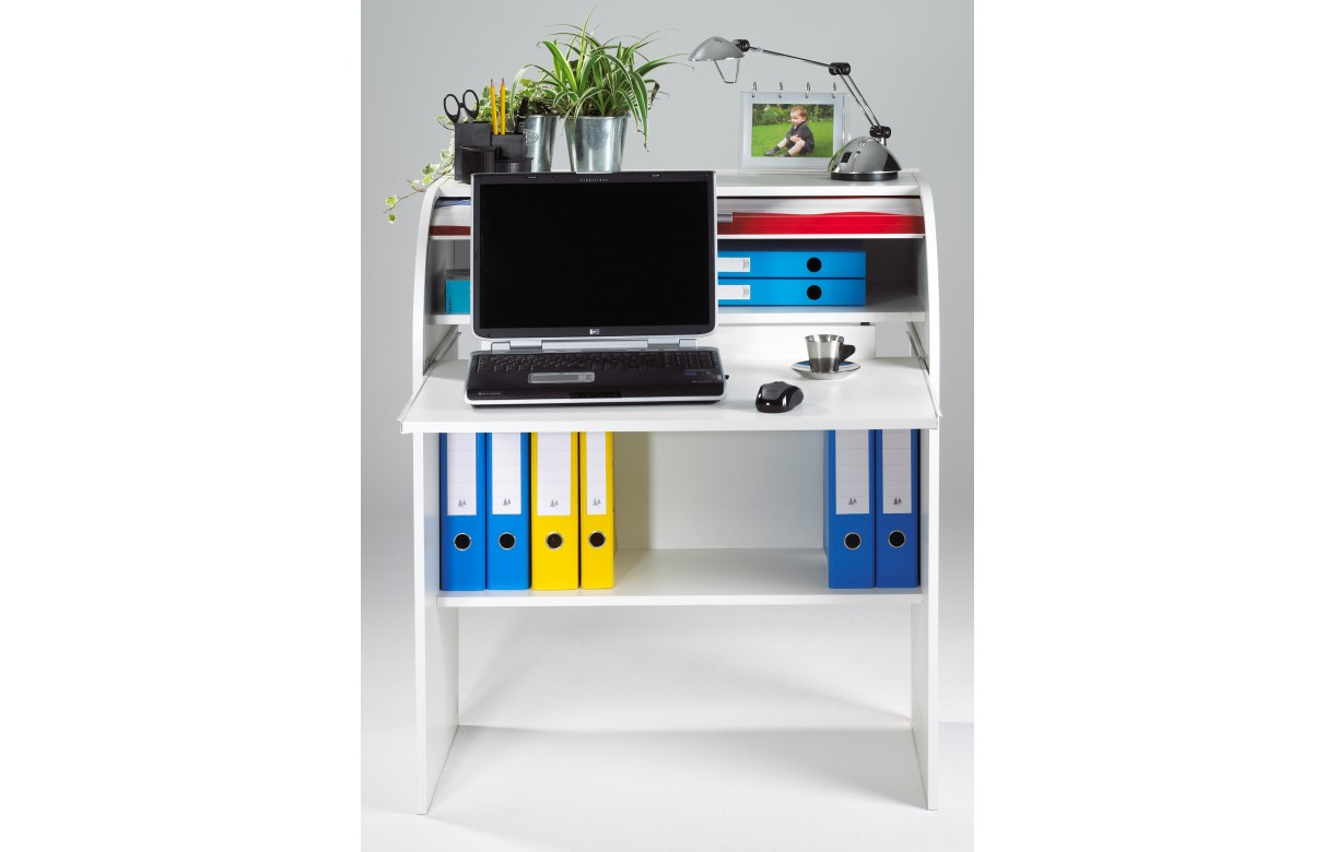 Meuble informatique rideau coulissant maison image id e for Meuble bureau junior