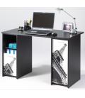 Bureau noir ou blanc avec caissons et rideau 4 coloris Tour Eiffel PARIS -