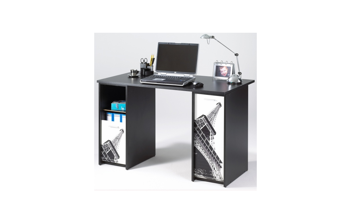 bureau avec tours de rangement rideau d co paris. Black Bedroom Furniture Sets. Home Design Ideas