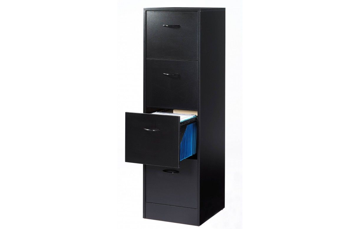 meuble de bureau 4 tiroirs pour dossiers suspendus. Black Bedroom Furniture Sets. Home Design Ideas