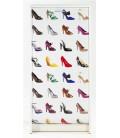 Rangement pour chaussures blanc ou noir à rideau 20 paires Chaussures -