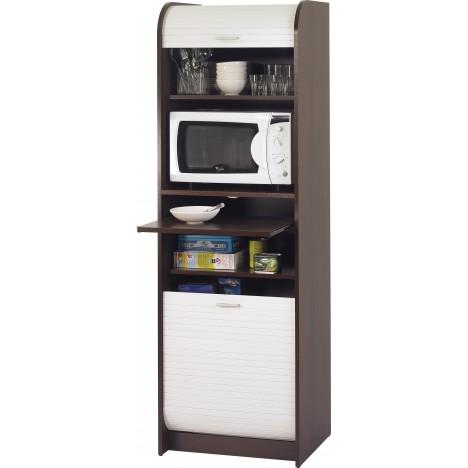 meuble micro onde weng ou htre avec rangements de cuisine et rideau 180