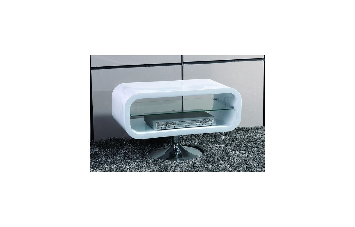 Meuble Tv Rond Blanc Laque - Meuble Tv Blanc Laqu Pivotant Vintage Look Decome Store[mjhdah]http://www.destockmeubles.com/media/catalog/product/1/4/1471_-_Banc_TV_design_laqu_blanc_.jpg